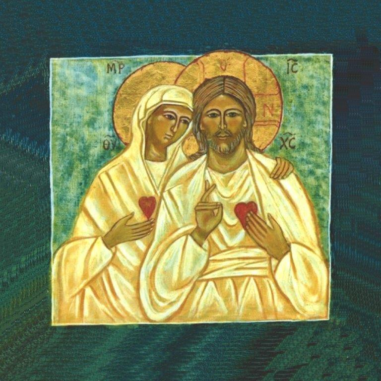 Christ et vierge