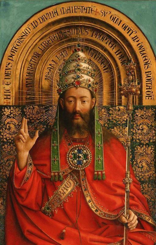 Christ roi jan van eyk