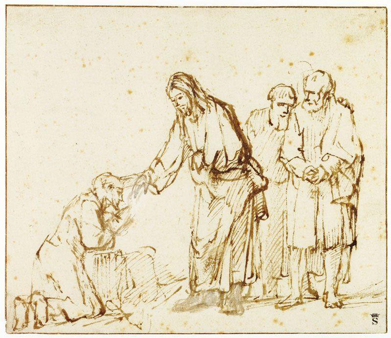 Guérison lépreux Rembrandt