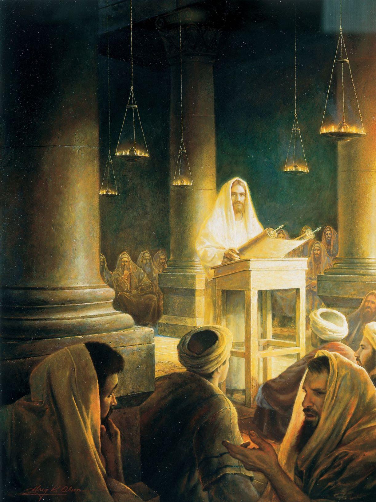 Jesus a la synagogue