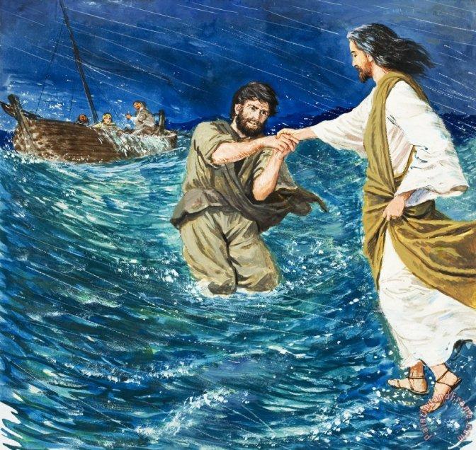 Jesus marchant sur l eau